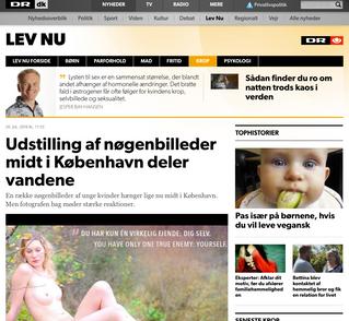 DR.dk: Udstilling af nøgenbilleder midt i København deler vandene