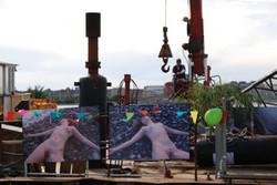 Illutron art boat, Denmark, 2015