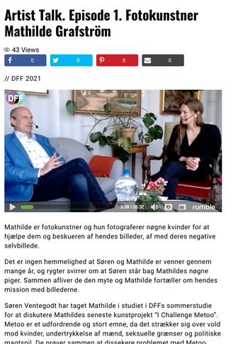 Danmarks Frie Fjernsyn (TV show): Artist Talk. Episode 1. Fotokunstner Mathilde Grafström