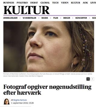 Berlingske: Fotograf opgiver nøgenudstilling efter hærværk