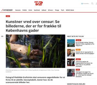 TV2 Nyhederne: Kunstner vred over censur: Se billederne, der er for frække til Københavns gader