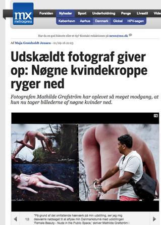 MX: Udskældt fotograf giver op: Nøgne kvindekroppe ryger ned