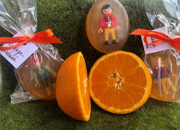 Savon orange pressée