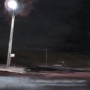 """lone street light, Rockaway, 16""""x20"""""""