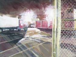 _800 amp hum_ Gowanus 18_x24_ acrylic on canvas on wood panel 2017