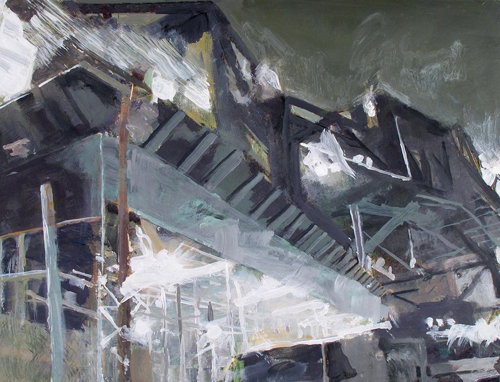 """scaffolding Gowanus and Smith Stree"