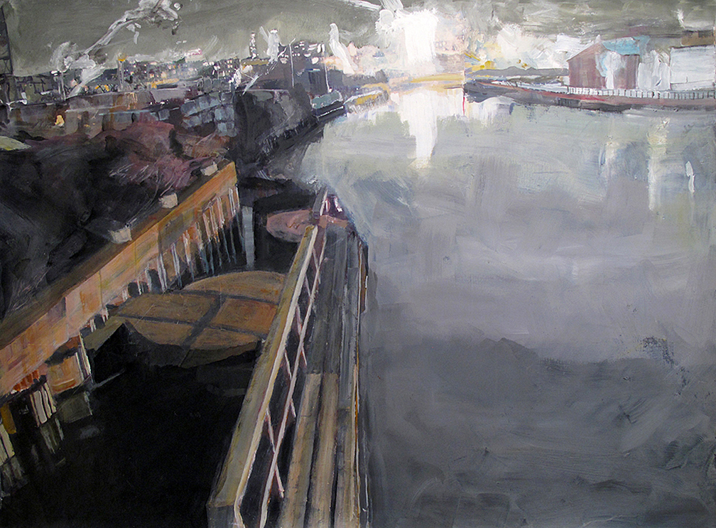"""from 9th st bridge""-Gowanus-50""x37"