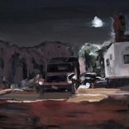 "trailer, Mack truck, street light. Rockaway 24""x30"""