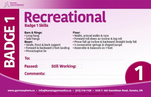 Recreational Badge 1