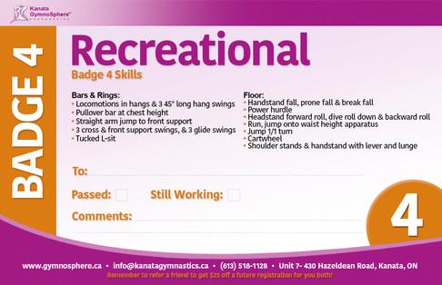 Recreational Badge 4