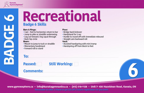 Recreational Badge 6