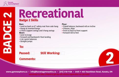 Recreational Badge 2