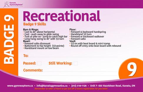 Recreational Badge 9