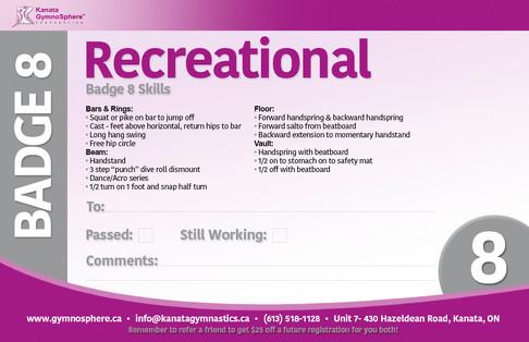 Recreational Badge 8