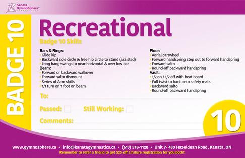 Recreational Badge 10