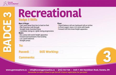 Recreational Badge 3
