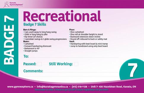 Recreational Badge 7