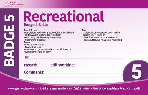 Recreational Badge 5
