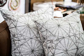 Custom Sewing Grey & White Pillows