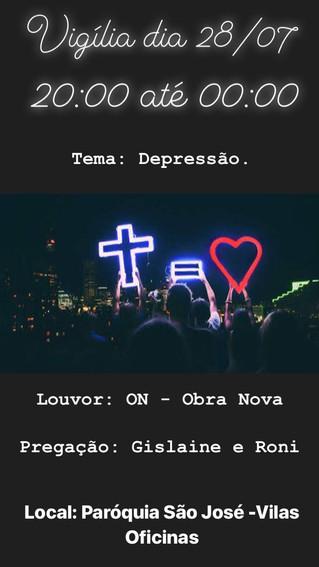 Vigília - Tema: Depressão - 28/07/2018