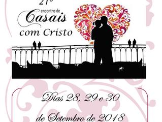 ECC - Encontro de Casais com Cristo | Início dia 28/09/2018