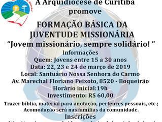 Formação  Básica da Juventude Missionária - Arquidiocese de Curitiba.