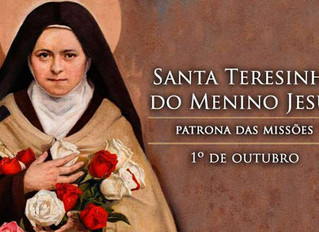 01/10 - Santa Teresinha do Menino Jesus, doutora da Igreja
