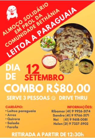 Comunidade Bethânia promove almoço solidário