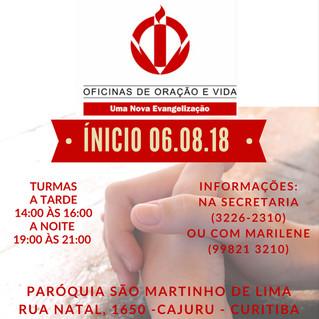 Oficina de Oração - Início 06/08/2018