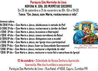 Novena N. Sra. Perpétuo Socorro - 26/09/2018 a 21/11/2018