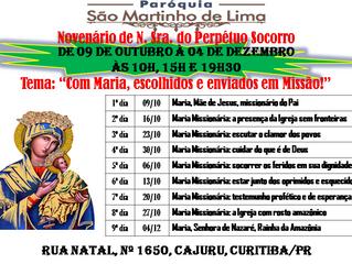 Novenário de Nossa Senhora do Perpétuo Socorro - 09/10 à 04/12