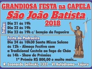Festa de São João Batista - 21 a 23/06