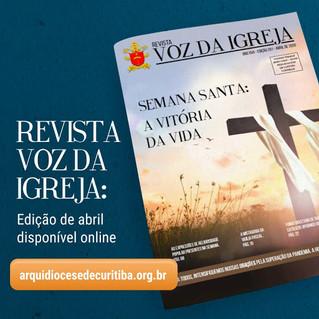 Revista Voz da Igreja está disponível apenas em versão online