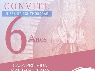 Casa Pró-Vida Mãe Imaculada completa seis anos de acolhimento a mulheres, em defesa da vida