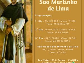 Tríduo em louvor a São Martinho de Lima