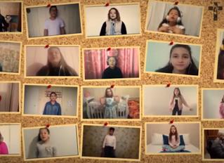 Crianças cantam em vídeo de projeto apoiado pelo Fundo Diocesano de Solidariedade