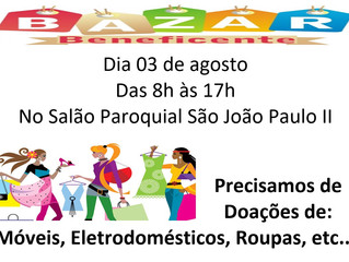 Bazar Beneficente - 03/08/2019