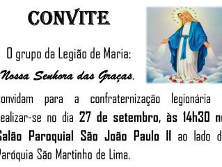 Confraternização Legião de Maria - 27/09/2019