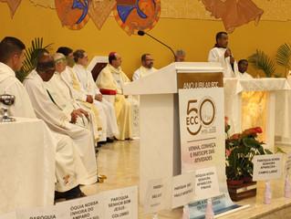 Missa de Ação de Graças do ECC realizado em nossa comunidade.