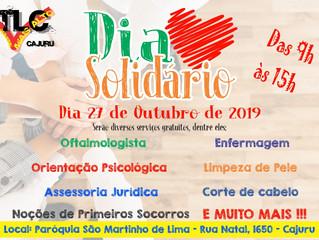 Dia Solidário em nossa comunidade - 27 de outubro das 9h ás 15h