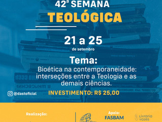 """""""Bioética na contemporaneidade"""" será tema da Semana Teológica do Studium Theologicum"""