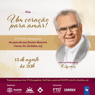 PUCPR promove Live celebrativa com Pe. Zezinho