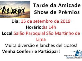 Tarde da Amizade - 15/09/2019