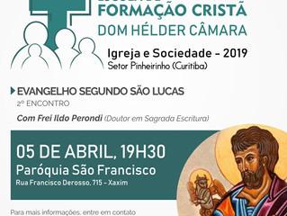 Formação sobre o Evangelho de São Lucas em 5 de abril