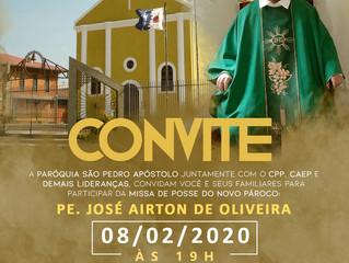 Convite: Missa de posse do Pe. José Airton de Oliveira em Itaperuçu
