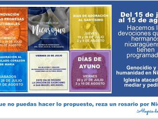 Rezemos pela Igreja da Nicarágua