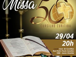 Movimento de Cursilhos de Cristandade celebra 50 anos de presença em Curitiba