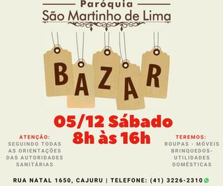 BAZAR São Martinho de Lima dia 05/12/2020