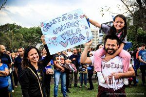 Cristãos reuniram-se em Curitiba para manifestação contra a legalização do aborto