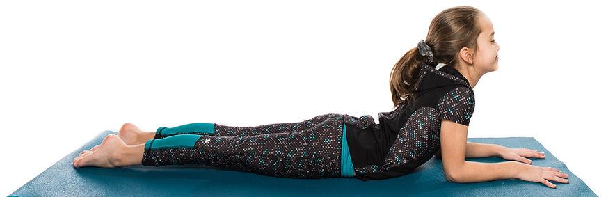 Posture yoga enfant sphinx